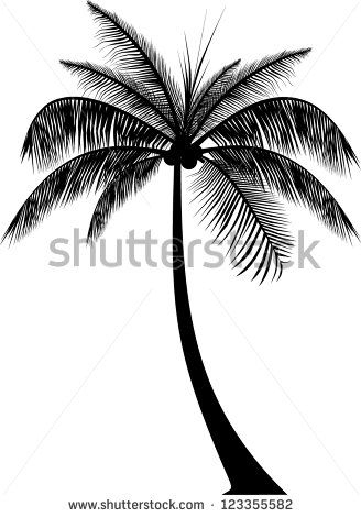 Realistic Palm Tree Silhouette Palm Tree Tattoo Palm Tree