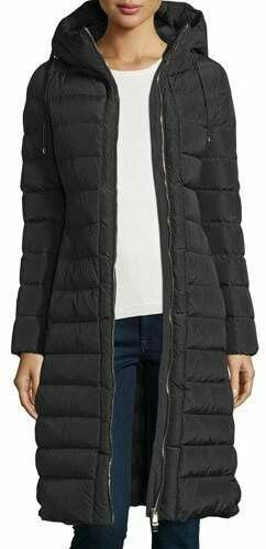 Moncler Imin Long Quilted Puffer Coat, Black | Warm Winter