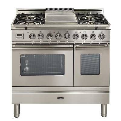 Verona 36 Free Standing Dual Fuel Range Reviews Wayfair Kitchen Appliances Oven Double Oven Kitchen Stove