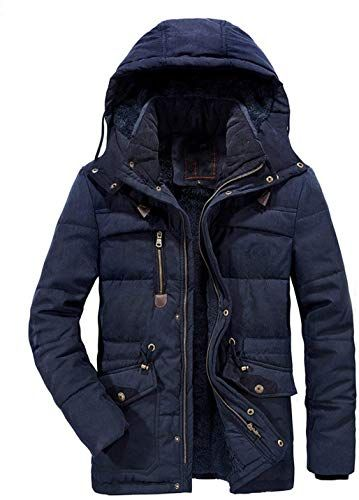 omniscient Mens Hoodied Down Fashion Warm Coat Winter Casual Hood Zip Up Coats Coat