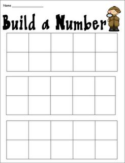 Activity to build numbers.