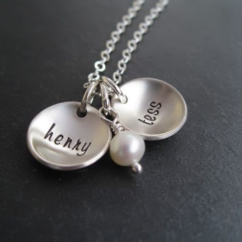 Personalized Name Necklace  Hand Stamped Jewelry  by CandaceKane, $48.00