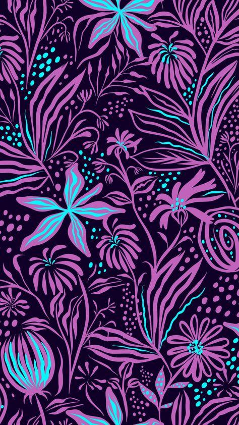 Flowers, plants, leaf, digital art, 720x1280 wallpaper