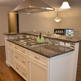 Kitchen Island Ideas With Stove Top two level countertop design ideas, pictures, remodel, and decor