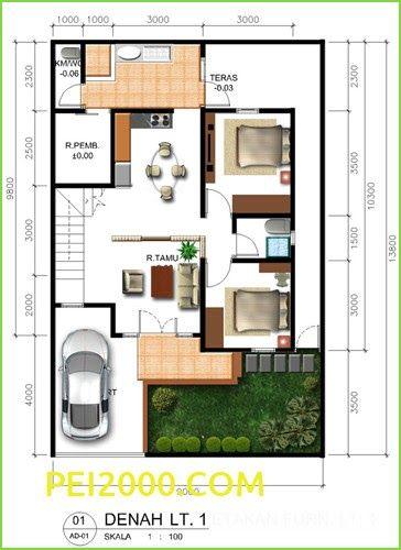 Desain Rumah 7x12 : desain, rumah, Contoh, Rumah, Minimalis, Ukuran, Denah, Kamar, Tidur, Archives, Desain, Ru…, Rumah,