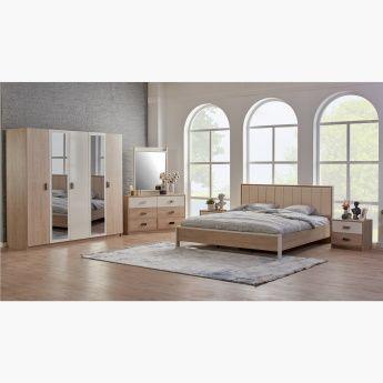 طقم غرفة نوم كينج 5 قطع من ريجا 180x200 سم بيج King Bedroom Sets King Bedroom Bedroom Set