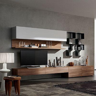 Modern Tv Cabinets elegant and modern 'lush' tv unit. bookshelf, italian piece with