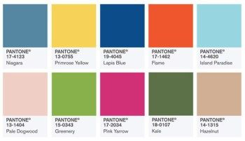 how to use pantone's top colour selections for