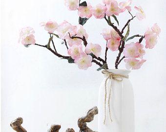 2 Strands Cherry Blossoms Flower Ivy Length 1 8m 70 9 Artificial Silk Cherry Flower Rattan Home Hanging Outdoor Wedding Decoration Japanese Cherry Blossom Cherry Blossom Flowers Dried Flowers