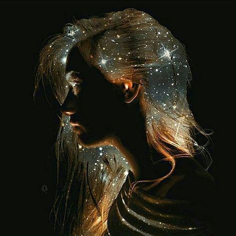 Amazing Starry Hair Art by @Oriolangrill  https://artloversnetwork.wordpress.com/2016/05/31/starry-hair/