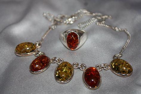Natural baltic amber multicolor ring polished Adjustable size