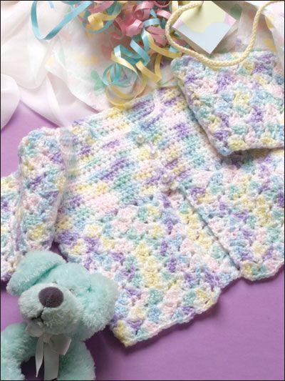 Rainbow Baby Jacket free crochet pattern