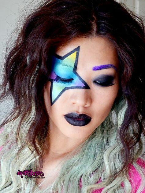 18 Ideas De Maquillaje De Rock Maquillaje Maquillaje Rockero Maquillaje De Fantasía