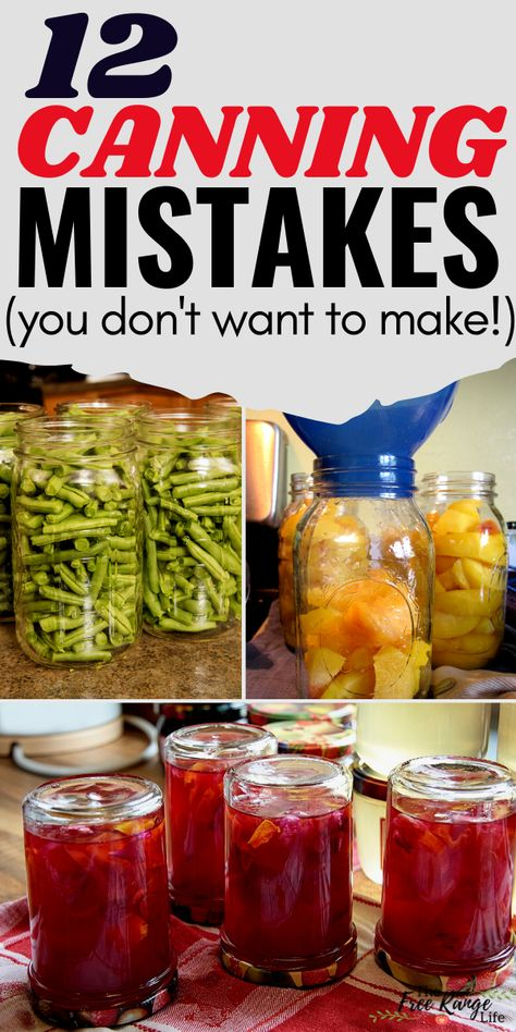 Are you new to canning or a food preservation beginner? Learn about these common canning mistakes that new- and experienced- canners make. Be sure to preserve food safely by making sure you don't make any of these canning mistakes!