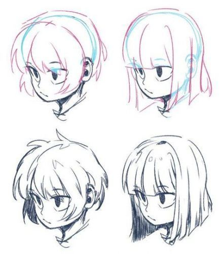 Anime Hairstyles Female Long In 2020 Cartoon Hair How To Draw Anime Hair Anime Boy Hair