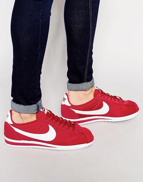 cheap for discount 2b155 89b35 Nike+Classic+Cortez+Nylon+Trainers+807472-611
