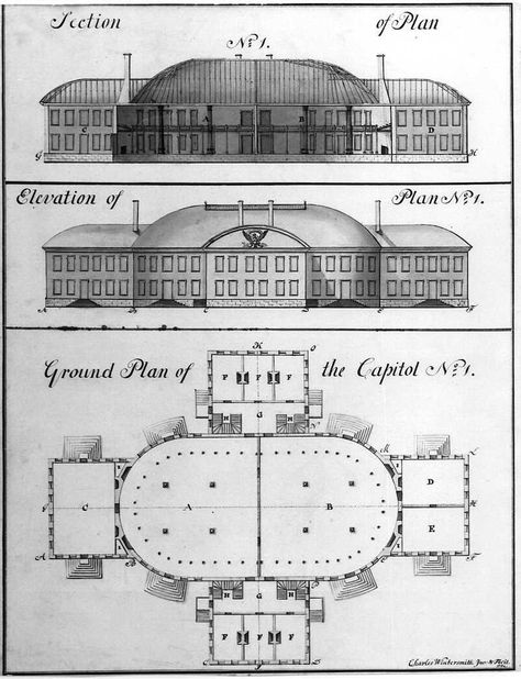 Charles Witherspoon's Proposed Design for the Capitol Building