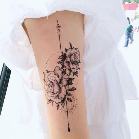23ce4e571 Rose Tattoo Alchemist Tattoo Spiritual Tattoo Romantic Bohemian Tattoo Boho  Minimal Tattoo LAZY DUO Tattoo Sticker