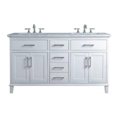 Sverre 48 Double Bathroom Vanity Set With Mirror Double Sink
