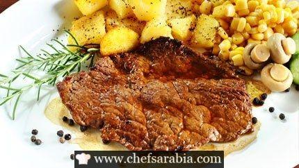 ستيك لحم بالخردل واكليل الجبل Lebanese Recipes Food Recipes