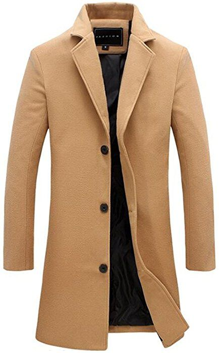 Notched Fit Benibos Slim Mens Collar Coat Trench Overcoat F13culJTK5