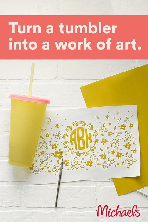 This bright and fun tumbler, designed by Mandy @SugarBeeCrafts, changes before your very eyes!