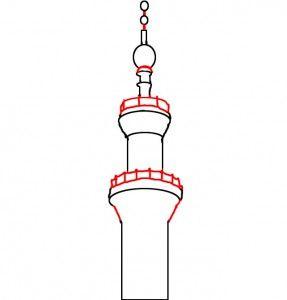 تعلم رسم مئذنة مسجد تعليم رسم مئذنة مسجد خطوة بخطوة Page 2 Of 2 تعلم الرسم Pendant Light Ceiling Lights Art Inspiration
