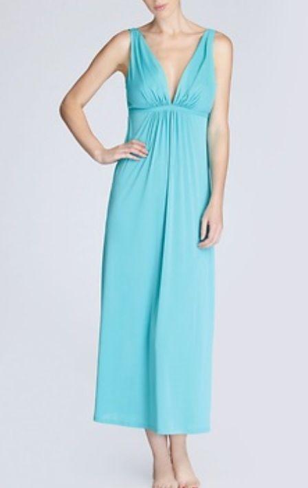 Natori Aphrodite Gown in sea green | Frill | Pinterest