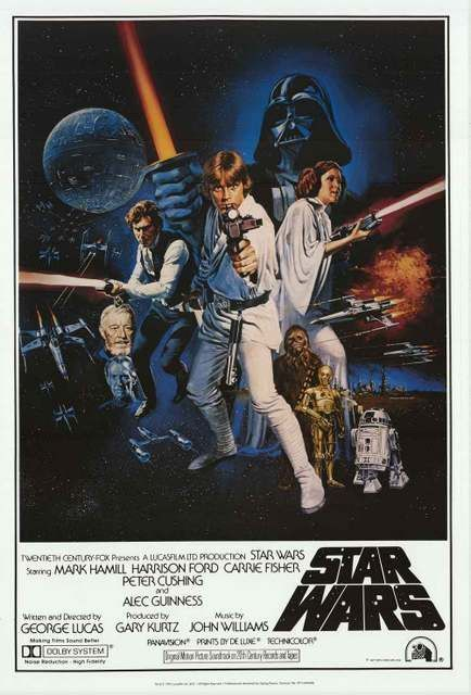 Star Wars Episode Iv A New Hope Cast Art Movie Poster 24 36 Star Wars Movies Posters Classic Movie Posters Movie Posters Vintage