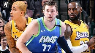 Los Angeles Lakers Vs Dallas Mavericks Full Game Highlights January 10 2020 2019 20 Nba Season New Hoh B In 2020 Lakers Vs Los Angeles Lakers Dallas Mavericks