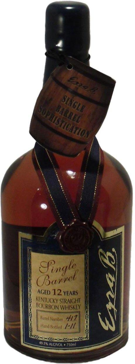 Ezra Brooks 12 Year Old Single Barrel Straight Bourbon Whiskey Bourbon Whiskey Whiskey Whiskey Distillery