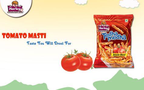 Enjoy the real taste of Tomato in Harley Tedha Medha. For more www.harleyfoods.com