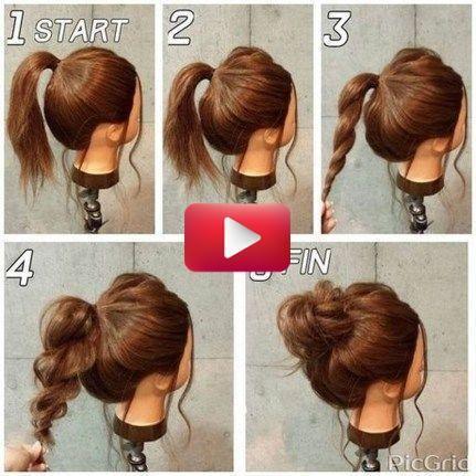 20 Fabulous Simple Bun Hairstyles Ideas For Long Hair 20 Fabulous Simple Bun Bun In 2020 Medium Length Hair Styles Medium Hair Styles Hair Styles