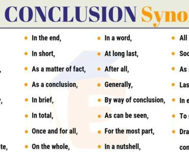 In Conclusion Synonym 30 Useful Synonyms For In Conclusion 2