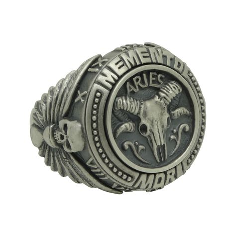 Sterling Silver 925 Ouroboros Skull Ring All Seeing Eye Pyramid Mason Signet OWL