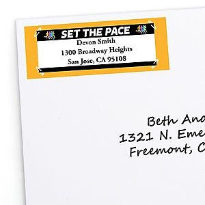 Set The Pace Running Personalized Track Cross Country Or Marathon Return Address Labels 30 Ct Running Pace Party Photo Booth Party