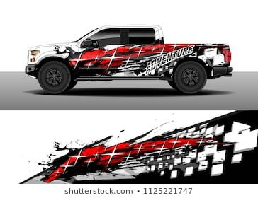 Truck And Car Shop >> Truck And Car Decal Wrap Vector Graphic Abstract Racing