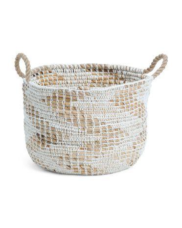 Made In Indonesia Large Rope Storage Basket Home T J Maxx Storage Baskets Basket Closet Storage Bins