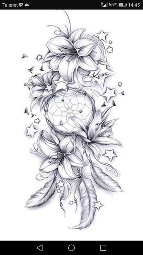No stars and maybe diff flowers but the direction is cute  tattoo