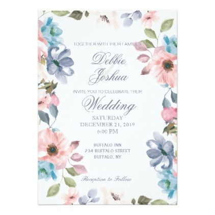 Purple Teal Wedding Invitation Template Diy Garden Floral Shower