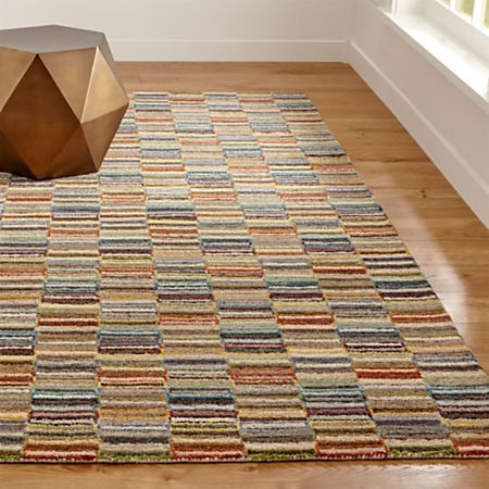 Bix Striped Wool Rug 8 X10 Reviews Crate And Barrel Crate And Barrel Rugs Rugs Wool Rug