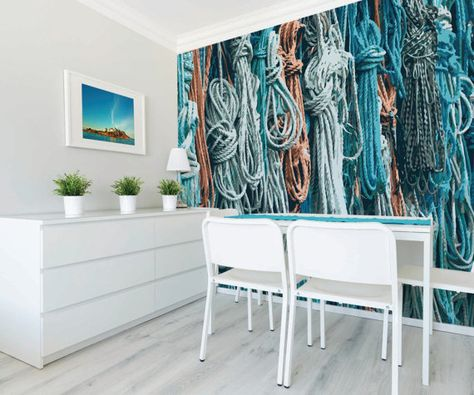 Rope Removable Wallpaper Nautical Wall Mural By