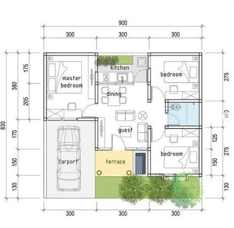 Desain Rumah Minimalis 3 Kamar Ukuran 7x9 Cek Bahan Bangunan