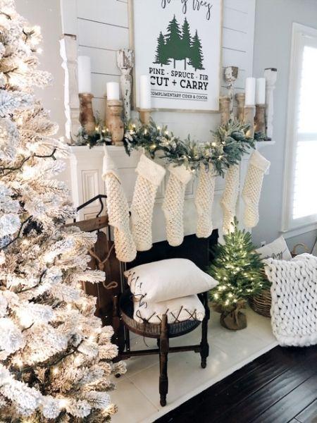 Holiday Housewalk With Balsam Hill Christmas Fireplace Decor Diy Christmas Fireplace Christmas Decor Diy