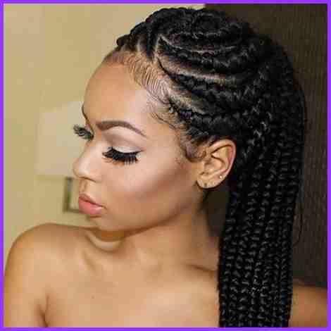 Einfach Afrikanisch Haarflechtarten Genel Geflochtene Haare