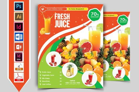 Pin On Fruit Juice Flyers And Posters