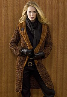 Crocheted coat St. Petersburg - free pattern Kim Guzman
