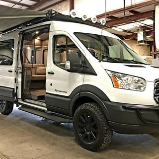Sportsmobile 4x4 Ford Transit Loaded With Aluminess Gear Ford Transit Ford Transit Campervan Ford Transit Conversion