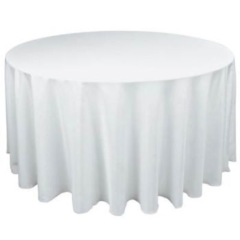 Round Table Covers, Round White Tablecloth
