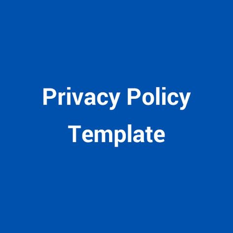 Download a sample Privacy Policy agreement template for your - privacy policy sample template